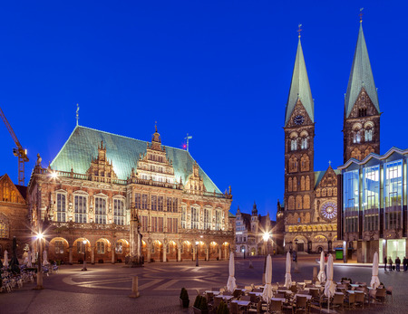 regarded: Bremen Market Square  is  regarded as one of the most beautiful Market Squares in Germany. Roland  and  Town hall are belonging to the UNESCO World Heritage Sites. Editorial