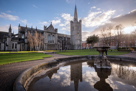 gothic church: St Patricks cathedral church is a national church of Republic of Ireland situated in capital Dublin.