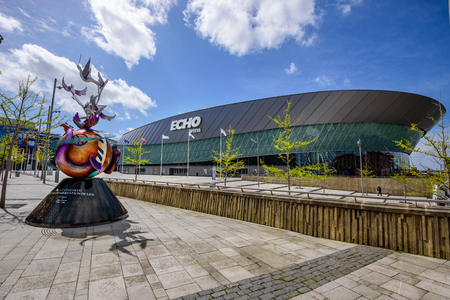 waterfront: Liverpool Echo arena is an entertainment venue located on Liverpool waterfront at Albert Dock.