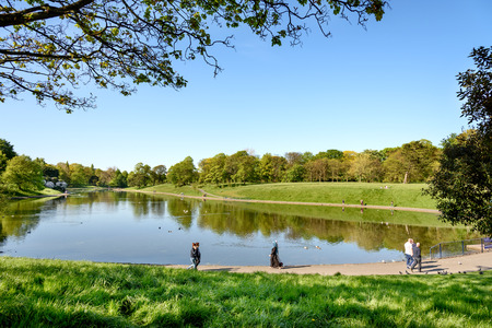 Sefton park is a large public park in Liverpool UK. People come to enjoy the greenary excersie walk and run around the park.