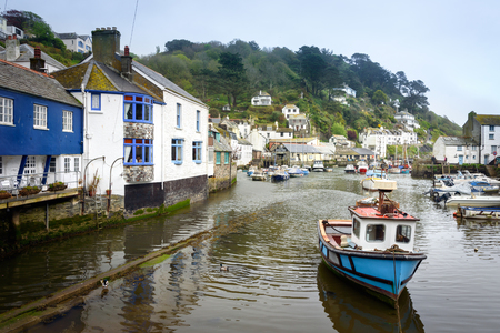 Polperro in Cornwall One of the most popular places in Cornwall South west of England. It is an unspoilt fishing and  one of the prettiest village on the south east cost of Cornwall.