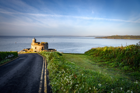 english west country: St Mawes castle lies on the south coast of Cornwall, England.