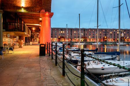 Albert dokken bij Liverpool waterkant, Liverpool, England, UK. Stockfoto