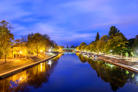 ouse: Panoramic view of river Ouse in York, UK.