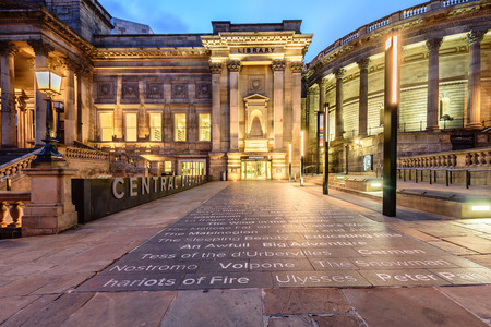 liverpool: Liverpool central library is world heritage building in Liverpool England.