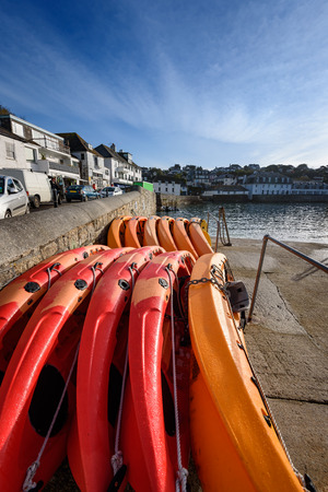 south west england: Small fishing village and tourist town of St Mawes in Cornwall, South West England.