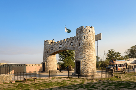 bab: Bab-e-Khyber is the landmark at the end of Khyber pass near Peshawar, Pakistan. Editorial
