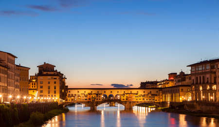 arno: The Ponte Vecchio is a Medieval bridge over the Arno River, in Florence, Italy