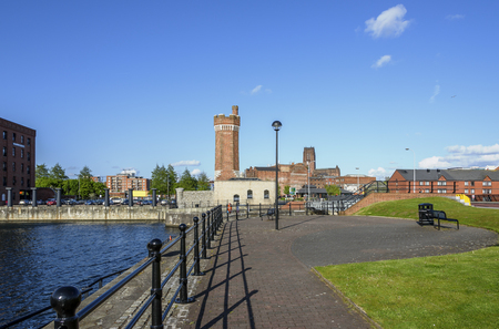 waterfront: Wapping Dock is a dock on the River Mersey, England, and part of the Port of Liverpool, UK.