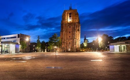 leeuwarden: Oldehove is an unfinished church tower in the medieval centre of the Dutch city of Leeuwarden,Netherland.