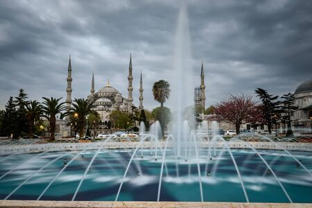religious building: Fountain is outside the entrance to the mosque in the Hippodrome  Blue Mosque.