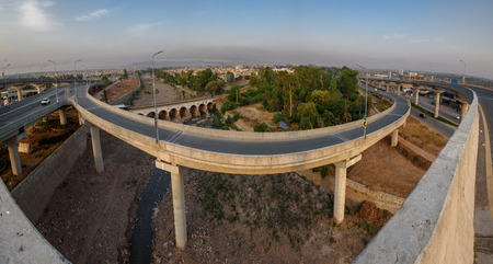 bab: Bab e Peshawar is a fly over in Peshawar Pakistan which is the countrys second multi-level flyover Stock Photo