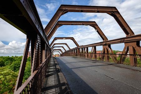 mersey: The Warrington Transporter Bridge across the River Mersey is a structural steel transporter bridge.