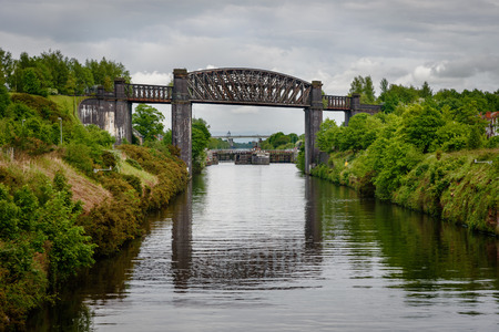 mersey: The Thelwall Viaduct is a steel composite girder viaduct in Lymm, Warrington, England.