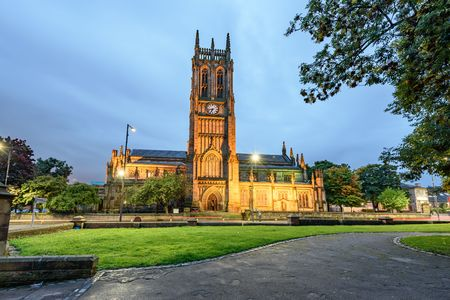 liturgical: Leeds Minster, West Yorkshire is a large Church of England foundation of major architectural and liturgical significance.