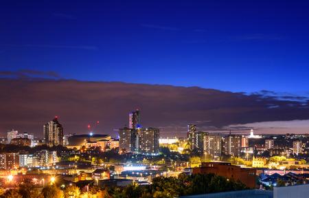 Panoramic view of Leeds city England,UK.