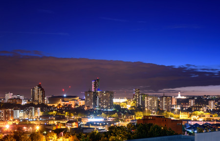 Panoramisch uitzicht op Leeds City Engeland, Groot-Brittannië.