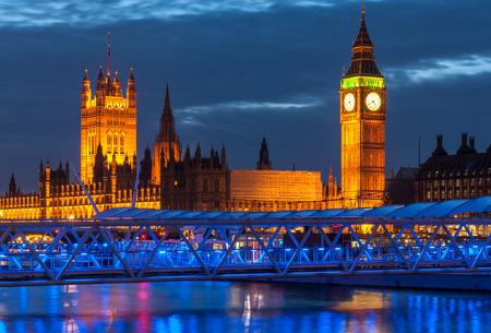 big ben tower: Big Ben Tower and Westminster Stock Photo