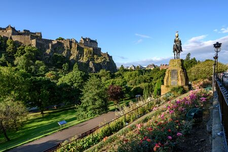 castle rock: Edinburgh Castle is a historic fortress  on the Castle Rock.