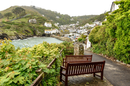 Polperro in Cornwall One of the most popular places in Cornwall, the village of Polperro is undoubtedly one of the prettiest. Banco de Imagens