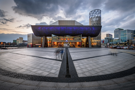 lowry: The Lowry is a spectacular waterside building housing theatres, galleries, restaurant, cafébars, gift shop and Tourist Information Centre in Manchester, England Editorial