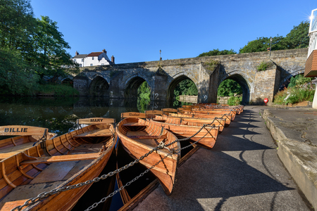 durham: Traditional hand built rowing boats are  for a leisurely row along the River Wear in the heart of Durham City.