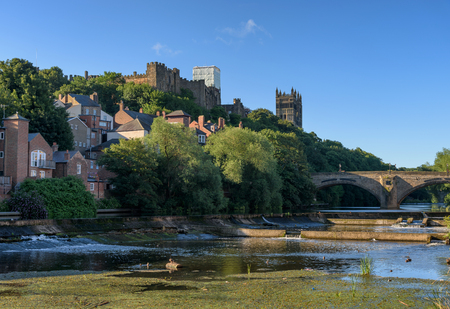Durham City A Historic Town By The River Wear England Stock Photo