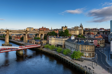 The Newcastle and Gateshead Quaysides are now a thriving, cosmopolitan area with bars, restaurants and public spaces. England.