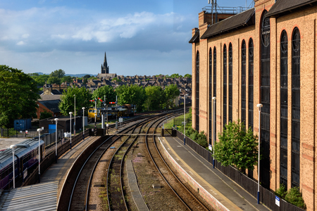 Harrogate railway station serves the town centre of Harrogate in North Yorkshire, England.