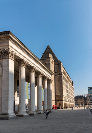 Manchester Central Library is the headquarters of the citys library and information service in Manchester, England. Stock Photo