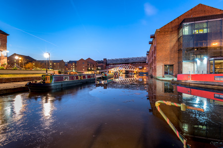 dockside: Castlefield is an inner city conservation area of Manchester in North West England. Stock Photo