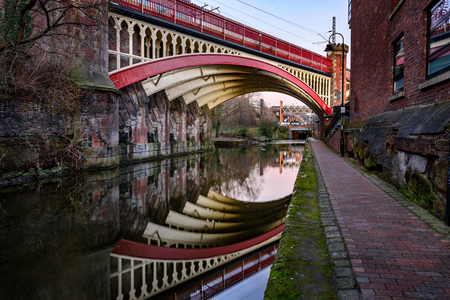 navigable: The Rochdale Canal is a navigable broad canal in Northern England, between Manchester and Sowerby Bridge. Stock Photo