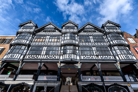 The Tudor style architecture in Chester, Cheshire, England. Stock Photo