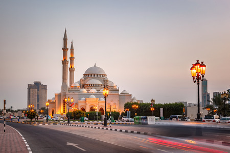 influenced: The Al Noor Mosque is a mosque in Sharjah. It is located on the Khaled lagoon at the Buhaira Corniche. It is of Turkish Ottoman design and was influenced by the Sultan Ahmed Mosque in Turkey