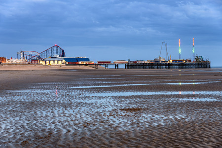 Blackpool Pleasure Beach commonly referred to as Pleasure Beach Resort or simply Pleasure Beach is an amusement park situated along the Fylde coast in Blackpool, Lancashire, England. Reklamní fotografie