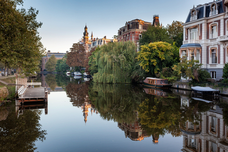 water transportation: Amsterdam, capital of the Netherlands, has more than one hundred kilometers of canals.