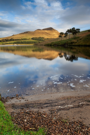 The beautiful landscape of Peak district national park in the north west of England