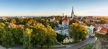 Skyline of Beautiful and colourful Tallinn,Estonia. Stock Photo