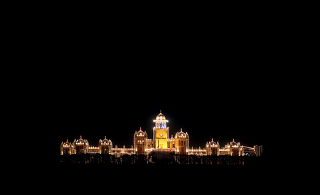 building structures: Islamia college peshawar decorated for centenary celebrations. Stock Photo
