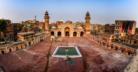 Masjid Wazir Khan mosque in  Lahore, Pakistan.