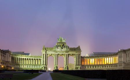 Triumphal arch (Arc de Triomphe) is a landmarm in Cinquantenaire park in Brussels, Belgium.