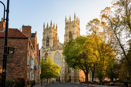 York Minster cathedral in England is  the largest gothic cathedral in northern Europe. Stock Photo