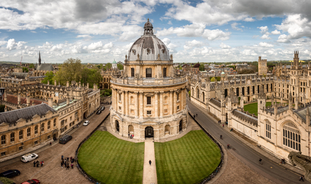 The Radcliffe Camera is a science library of Oxford University, England.