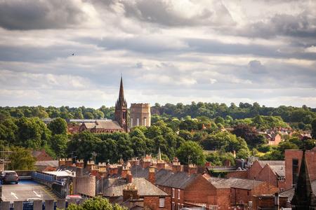 체스터 (Chester)는 로마에서 점령당한 때의 고고 학적 건축 보물들을위한 영국에서 가장 부유 한 도시입니다. 스톡 콘텐츠