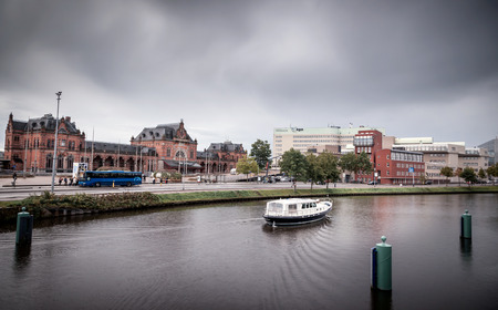 View of the railway station in the city of Groningen Netherland