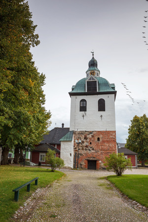 Exterior vew of Finish church in Poorvo, Finland Stock Photo