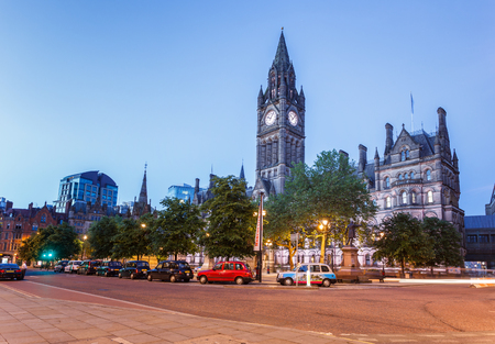 The grand building of Manchester Town hall. Stock Photo
