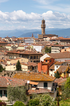 City Skyline from Piazzale Michelangelo, Florence, Tuscany, Italy,