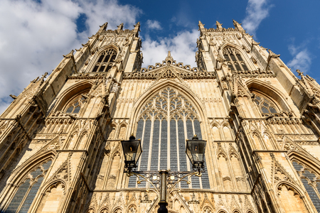 York Minster is the second largest Gothic cathedral of Northern Europe and clearly charts the development of English Gothic architecture from Early English through to the Perpendicular Period. Stock Photo