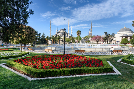 The Sehzade Mosque garden view in Istanbul. Istanbul is populer tourist destination in the Turkey